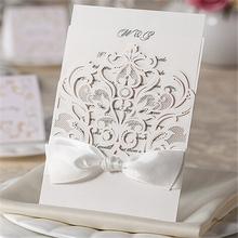 Eco-freindly paper awesome ecru wedding cards