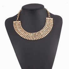 main material zinc alloy necklace big band necklace