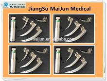 anesthetic fiber optic laryngoscope with macintosh adult use curve blade