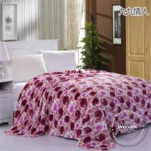 Woven manufacter coral fleece european and american fashion blanket