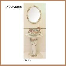 hei er verkauf bad sockel waschbecken keramik mit spiegel. Black Bedroom Furniture Sets. Home Design Ideas