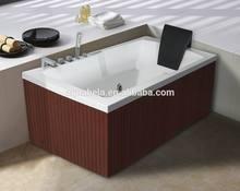 Combo Massage Air & Whirlpool Massage Type and Massage Function wooden apron bathtub