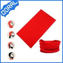 microfiber all purpose seamless tube red plain headwear