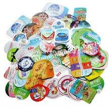 Die Cut Aluminum Lid Foil for yogurt cups/ Aluminium Foil Top Cover For Plastic Cups