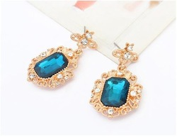 Luxury costly gem earrings acrylic pendant earrings Christamas presents first choice for beautiful women