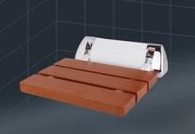 wall mount folding solid wood bathroom shower seat