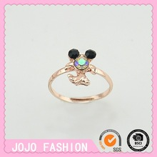 Children's cute diamond finger ring