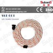 taizhou rigging manufacturer nylon rope buy white 16-strand diamond braided nylon rope from china