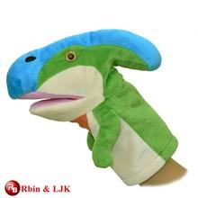custom promotional lovely dinosaur hand puppet