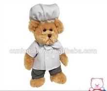 mini plush polar bear stuffed teddy bear with T-shirt