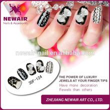 Vivi nail ABS false jeweled knot 3DF nail designs tips