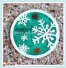 Fancy 2D transparent pvc plastic starbuck branding coffee cup mats