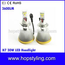 2014 super bright 50w 3600 lumen h7 led headlight,Auto led lighting