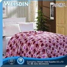 king size manufacter coral fleece king size purple color blanket