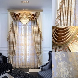 Top quality new products turkish curtain colorful Embroidery curtain