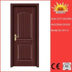 Black PVC wood contemporary interior doors SC-W114
