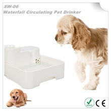 Super Quiet Operation Waterfall Circulating Pet Drinker with Dog water bottle