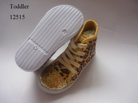 Kids Children Leopard Canvas Lace-up High Top Injection Shoes Sneakers Boots