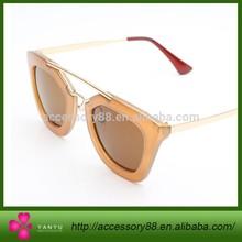 Cat eye retro metal women sunglasses high quality 2015 new hot summer fashion eyewear brand vintage girl woman mirror shade