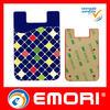 China Low price Custom Logo Design sticky silicone phone bag factory