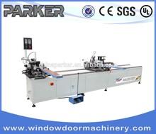 PARKER-Alu-door-window Automatic Feeding Double corner crimping machine aluminum window making machine