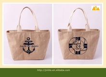 Jute Grocery Tote bag with zipper