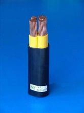 PVC insulated , heavy steel wire armored, PVC sheathed coal mine power cable