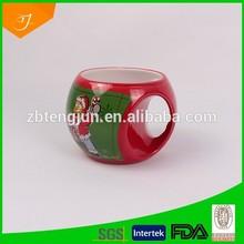 porcelain ball mug, casting mugs, unique shape mug print decal