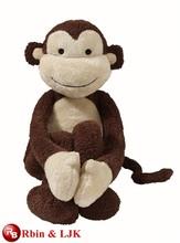 ICTI Audited Factory High Quality Custom Promotion Moving stuffed animal plush toy Monkey