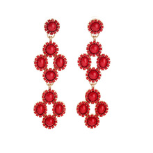 E00539 Red Bead Swing Earring for women