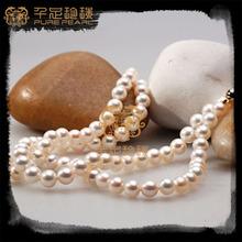 9mm white color potato freshwater pearl string design fashion jewelry silver jewlery