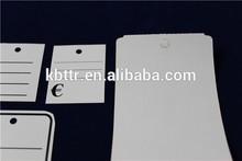 Printing custom cardboard tags for jeans
