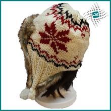 Winter ears protector polar fleece lining hat with earflaps