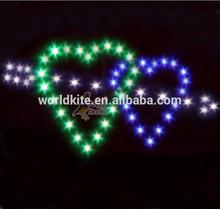 an arrow through two hearts LED kites