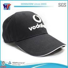 3D Cotton Black Sample Free Baseball Caps Sale