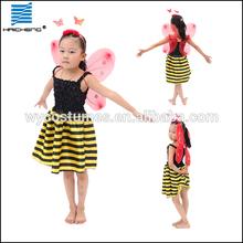 Crianças amarelo carnaval costume bee