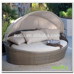 Audu Grey Mix Color Rattan Lightweight Folding Beach Bed