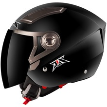 2014 Motor abs helmets Motorcyclehalf face double visor motorcycle helmet JX-OP02