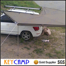 Easy set up camping car awning as sun shelter