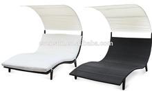 waved rattan poolside sunbed covers