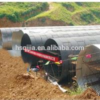corrugated steel culvert coated by bitumen, carbon steel culvert pipe