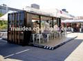 Bons materiais são utilizados para elegante café contêiner, modular coffee shop container, restaurante recipiente