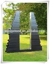 Hot new product garden stainless steel door abstract metal sculpture