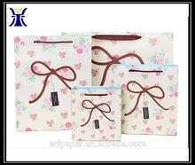 wholesale luxury paper shopping bag&folded shopping paper bag&printed custom made shopping bags