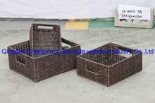s/3 PE rattan woven baskets storage basket box (H-14011 )