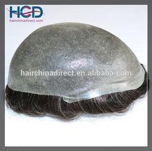 Readymade Top quality 100% Human Hair BIO Thin Skin Men's Hair Systems, Men's Toupee, Men's Hair Pieces