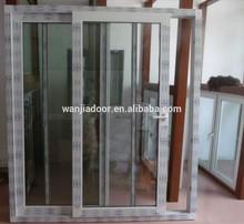 PVC sliding glass door with handle lock