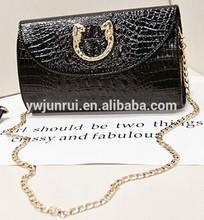 Europan clutch crocodile with metal decoration elegant fashion lady evening bags