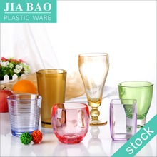 acrylic disposable colored plastic cups unbreakable plastic Cup reusable pc plastic cup