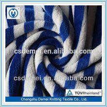high quality bamboo velour diaper of jacquard knitting fabric